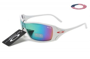 Quick View � Fake Oakley Dart Sunglasses White Frame Colorful Lens
