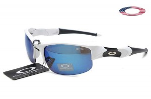 d3271bbbea Quick View · Fake Oakley Flak Jacket Sunglasses White Black Frame Ice  Iridium. Sale