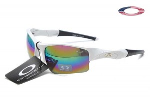 bce49cc0f7 Quick View · Fake Oakley Flak Jacket Sunglasses White Frame Colorful Lens.  Sale