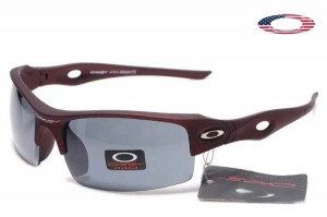 a240a148d1 Quick View · Fake Oakley Flak Jacket Xlj Sunglasses Dark Red Frame Gray Lens.  Sale