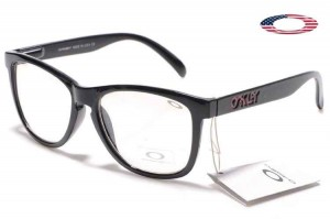 discount oakley frogskins vgl3  Quick View 路 Fake Oakley Frogskins Sunglasses Polished Black Frame Clear  Lens