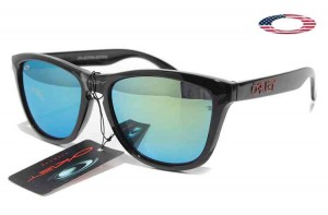 9ed2944f0b6 Quick View · Fake Oakley Frogskins Sunglasses Polished Black Frame Sky Blue  Lens