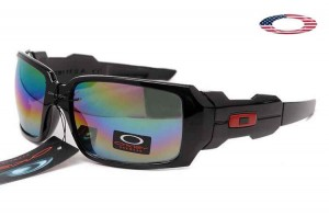 Quick View � Fake Oakley Oil Drum Sunglasses Black Frame Colorful Lens