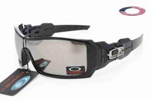 f99dfc9a12 Quick View · Fake Oakley Oil Rig II Sunglasses Black Frame Silver Iridium.  Sale