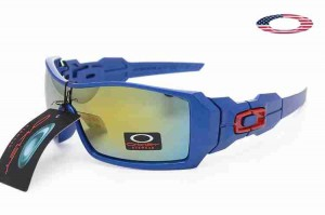 7c67476440 Quick View · Fake Oakley Oil Rig II Sunglasses Blue Frame Fire Iridium