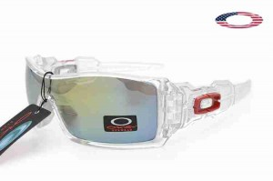 e283b8a938 Quick View · Fake Oakley Oil Rig II Sunglasses Polished Clear Frame Yellow  Sky Blue Lens