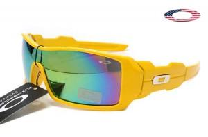 27b1e617cc Quick View · Fake Oakley Oil Rig Sunglasses Lemon Peel Frame Colorful Lens