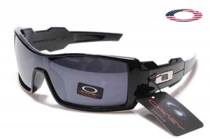 d037eeb3032 Quick View · Fake Oakley Oil Rig Sunglasses Polished Black Frame Gray Lens