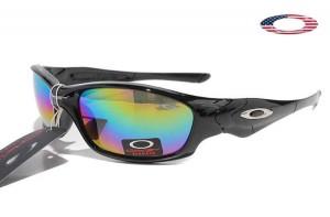 6d1a545b7f Fake Oakley Straight Jacket Sunglasses Polished Black Frame Colorful Lens