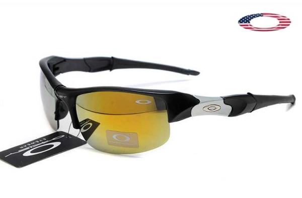 428cca2c601 Fake Oakley Flak Jacket Sunglasses Black White   Fire Iridium Sale ...