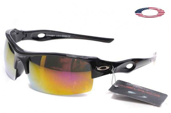 1f219bda46 Fake Oakley Flak Jacket Xlj Sunglasses Polished Black   Fire Iridium ...