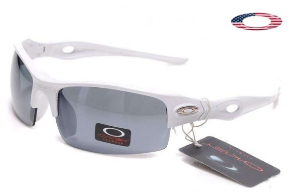 8ea1d1dcf14 Fake Oakley Flak Jacket Xlj Sunglasses Polished White   Black Sale ...