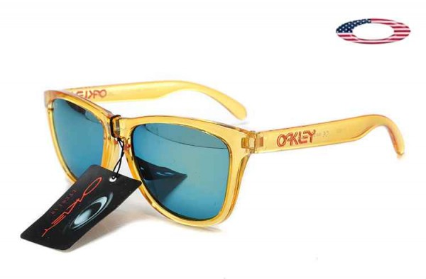 83614a899b Fake Oakley Frogskins Sunglasses Crystal Yellow   Blue Sale Online