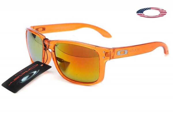 0de8be924ff Fake Oakley Holbrook Sunglasses Crystal Orange   Fire Iridium Sale Online