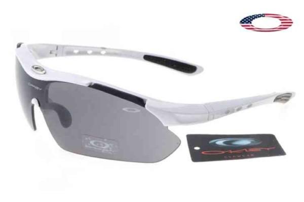 Fake Oakley M / Golf Sport Sunglasses White / Gray Sale Online