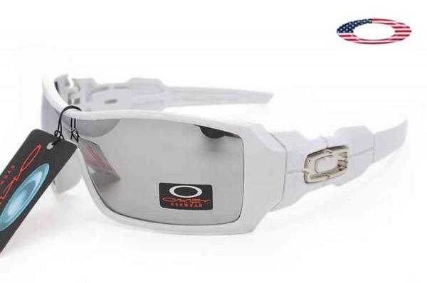 e512eb0706 Fake Oakley Oil Rig II Sunglasses White   Silver Iridium Sale Online