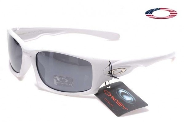 Fake Oakley Ten Sunglasses White / Gray Sale Online