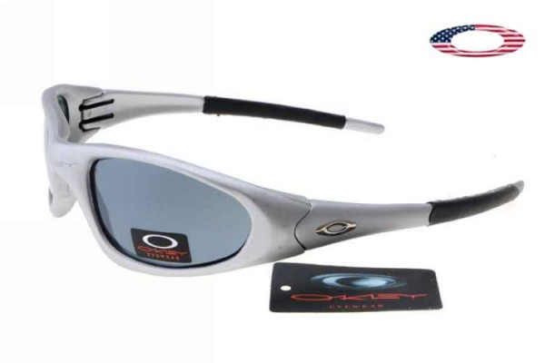 blue and white oakley sunglasses ctxu  Fake Oakley XX Sunglasses Polished White Frame Blue Lens