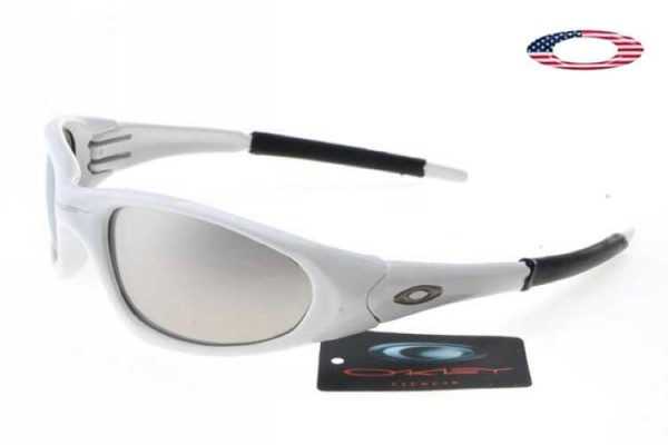 ptiop Fake Oakley XX Sunglasses White / Chrome Iridium Sale Online