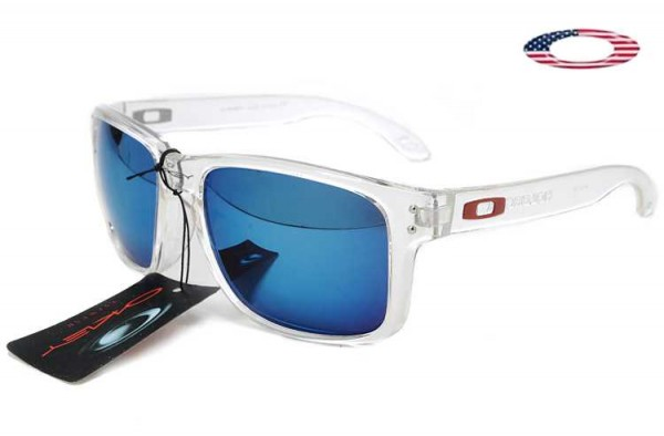 54d26fb8e38f4 Fake Oakley Holbrook Sunglasses Polished Clear   Ice Iridium Sale Online